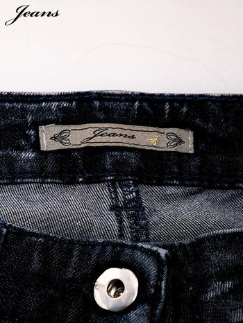 JEANS Ciemnoniebieskie dekatyzowane spodnie jeansowe                                  zdj.                                  4