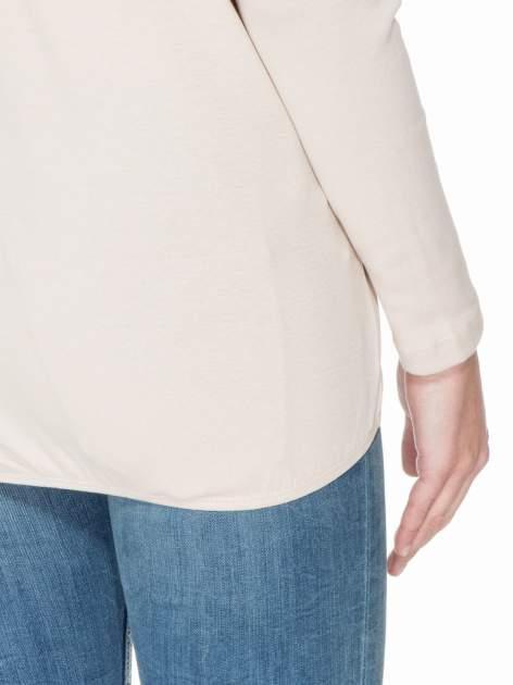 Jasnobeżowa bawełniana bluzka z gumką na dole                                  zdj.                                  6