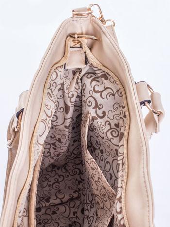 Jasnobeżowa pikowana torba na ramię                                  zdj.                                  11