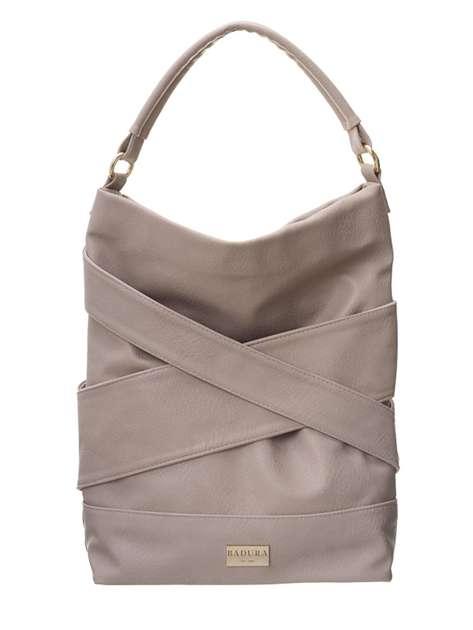 Jasnobeżowa torba damska BADURA