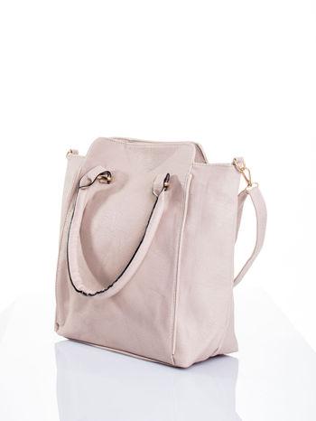 Jasnobeżowa torba shopper bag                                  zdj.                                  5
