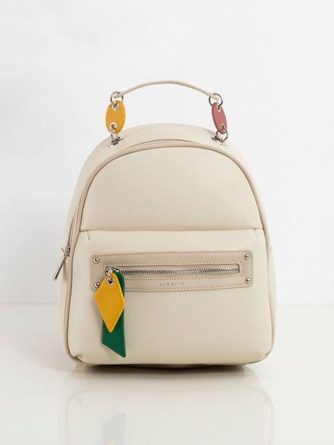 Jasnobeżowy damski plecak