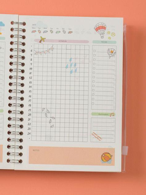 Jasnobeżowy notes we flamingi                              zdj.                              5