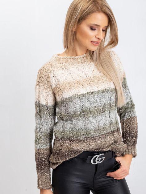 Jasnobeżowy sweter Nevermind                              zdj.                              1
