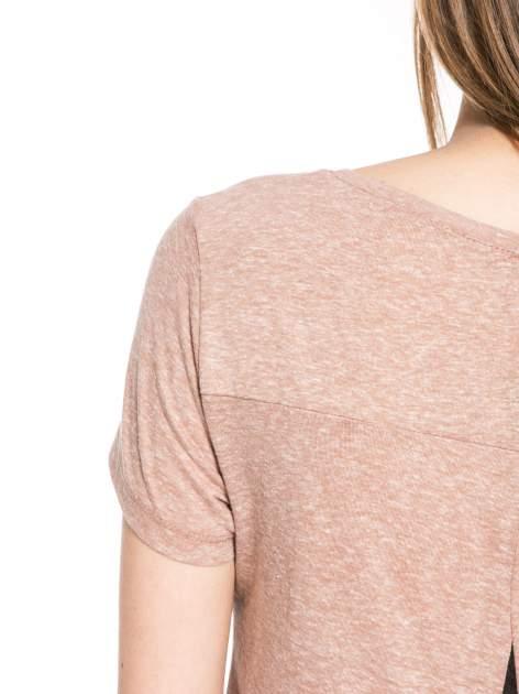 Jasnoborodowy t-shirt z napisem SORRY I'M SUPER FRESH z dżetami                                  zdj.                                  10