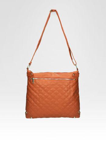 Jasnobrązowa pikowana torebka na ramię                                  zdj.                                  5