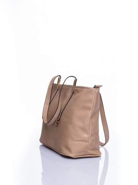 Jasnobrązowa prosta torba shopper bag                                  zdj.                                  4