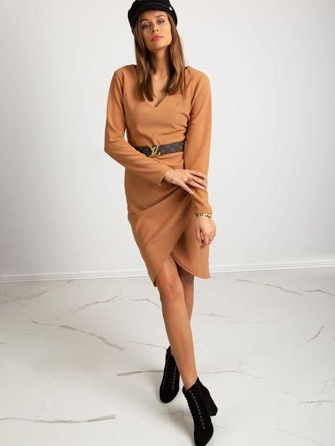 Jasnobrązowa sukienka Fireside                              zdj.                              4