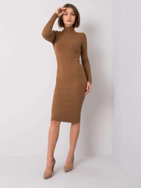 Jasnobrązowa sukienka Trish OCH BELLA