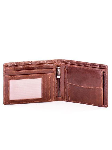 Jasnobrązowy miękki skórzany portfel dla mężczyzny                              zdj.                              4