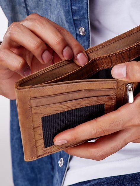 Jasnobrązowy portfel męski ze skóry naturalnej                               zdj.                              2