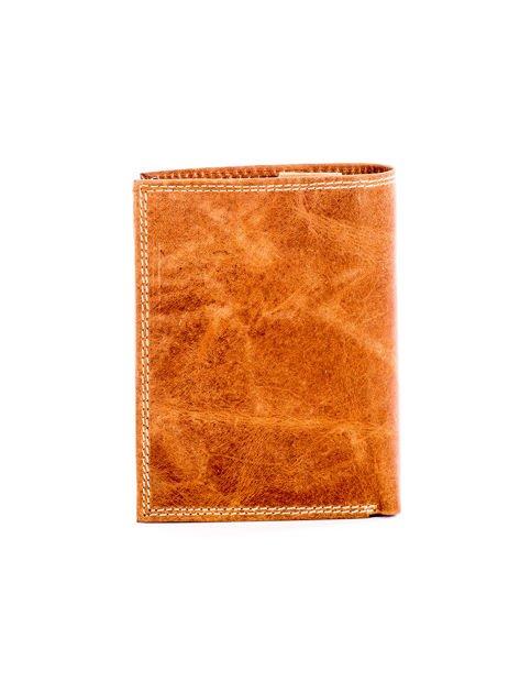 Jasnobrązowy skórzany portfel z cieniowaniem                              zdj.                              2