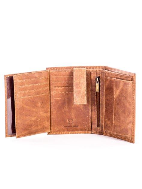 Jasnobrązowy skórzany portfel z cieniowaniem                              zdj.                              6