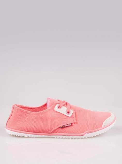 Jasnoczerwone miękkie buty casualowe damskie                                  zdj.                                  1