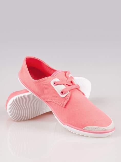 Jasnoczerwone miękkie buty casualowe damskie                                  zdj.                                  4