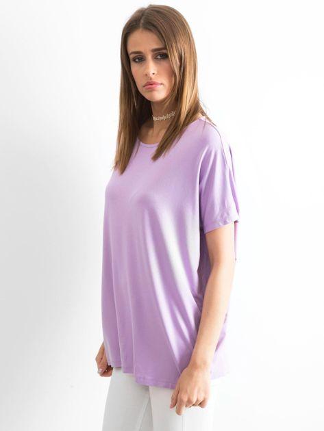 Jasnofioletowa bluzka Oversize                              zdj.                              3