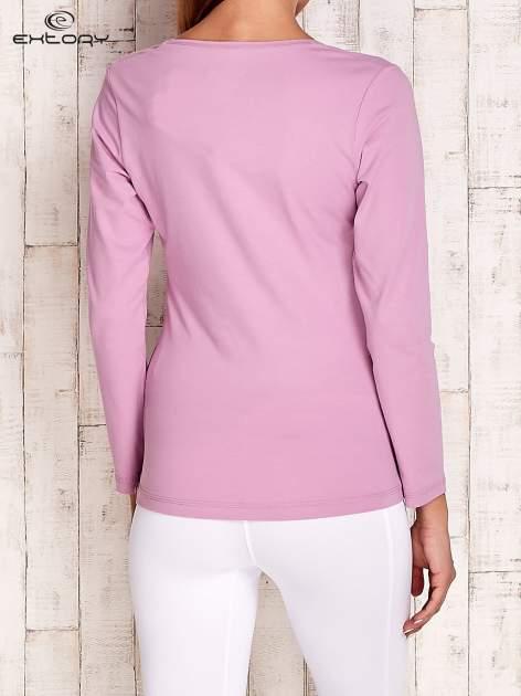 Jasnofioletowa bluzka sportowa basic PLUS SIZE                                  zdj.                                  4