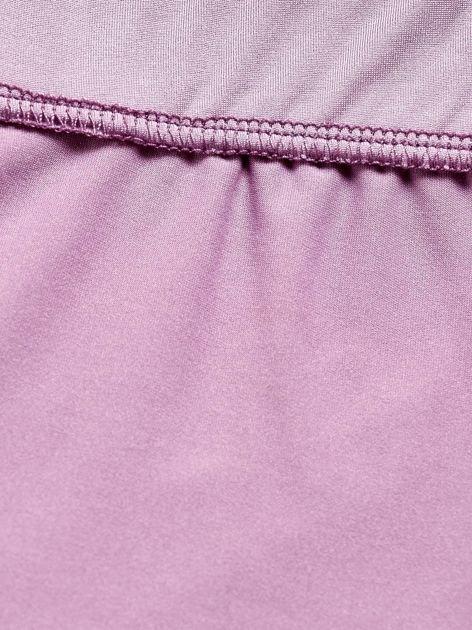 Jasnofioletowe długie cienkie legginsy do biegania                              zdj.                              6