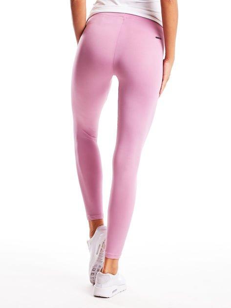 Jasnofioletowe długie cienkie legginsy do biegania                              zdj.                              2
