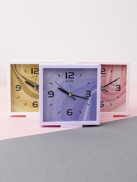 Jasnofioletowy kwadratowy zegarek                              zdj.                              2