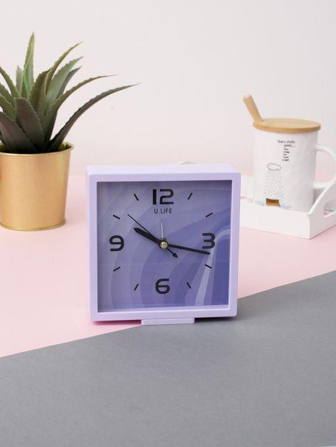 Jasnofioletowy kwadratowy zegarek                              zdj.                              3