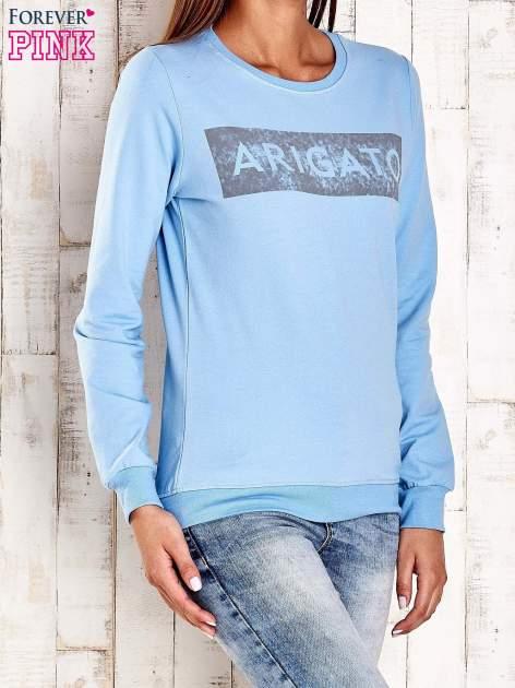 Jasnoniebieska bluza z napisem ARIGATO                                  zdj.                                  3