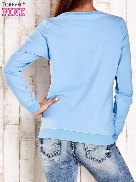 Jasnoniebieska bluza z napisem ARIGATO                                  zdj.                                  2