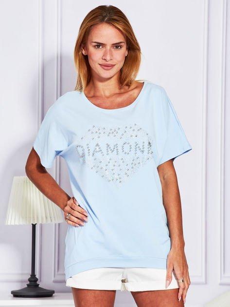 Jasnoniebieska bluzka DIAMOND                              zdj.                              1