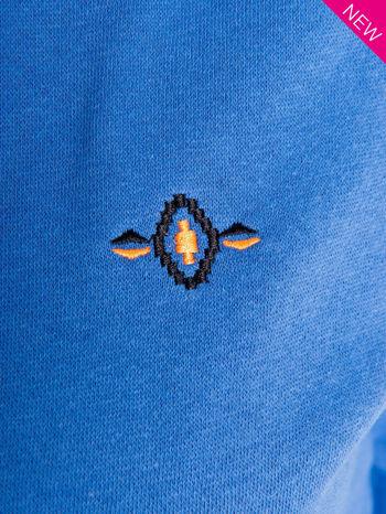 Jasnoniebieska dresowa bluza sportowa z kapturem                                  zdj.                                  7