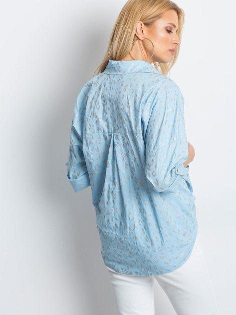 Jasnoniebieska koszula Stylish                              zdj.                              2