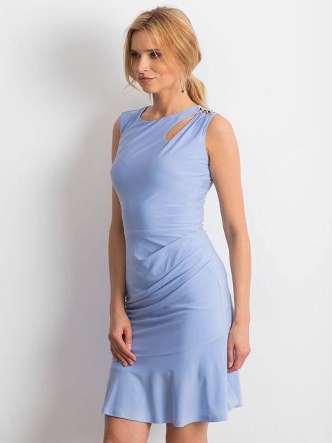 Jasnoniebieska sukienka Handle                              zdj.                              3