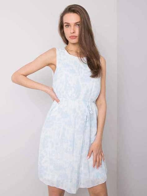 Jasnoniebieska sukienka tie-dye Marina SUBLEVEL
