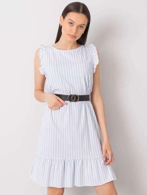 Jasnoniebieska sukienka w paski Clarabelle