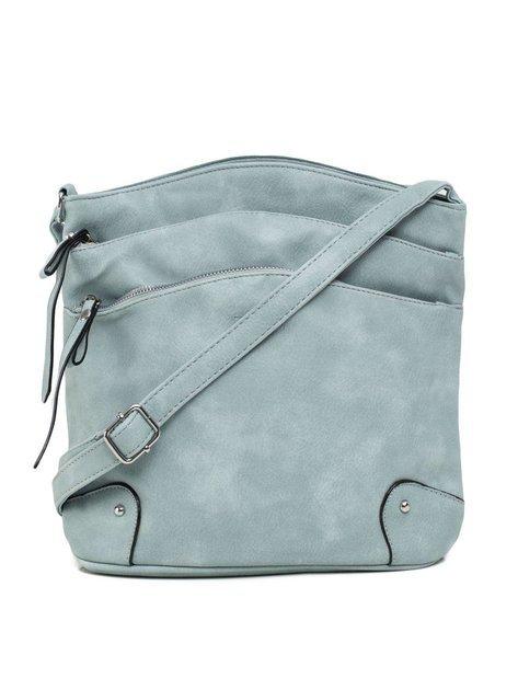Jasnoniebieska torba z eko skóry