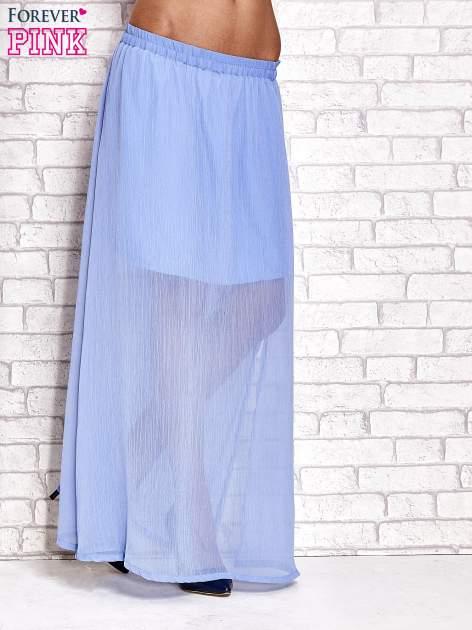 Jasnoniebieska transparentna spódnica maxi