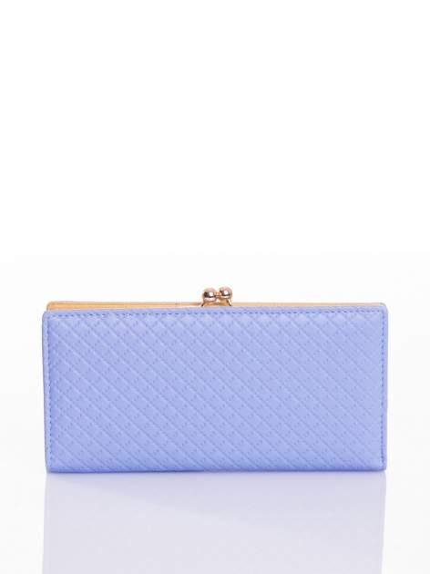 Jasnoniebieski elegancki portfel na bigiel