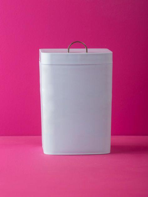 Jasnoniebieski kosz na śmieci na biurko                              zdj.                              1