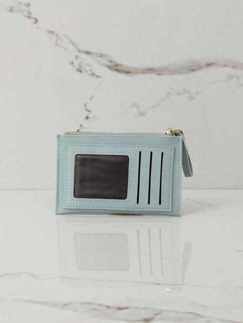 Jasnoniebieski mały portfel z aplikacją                              zdj.                              3