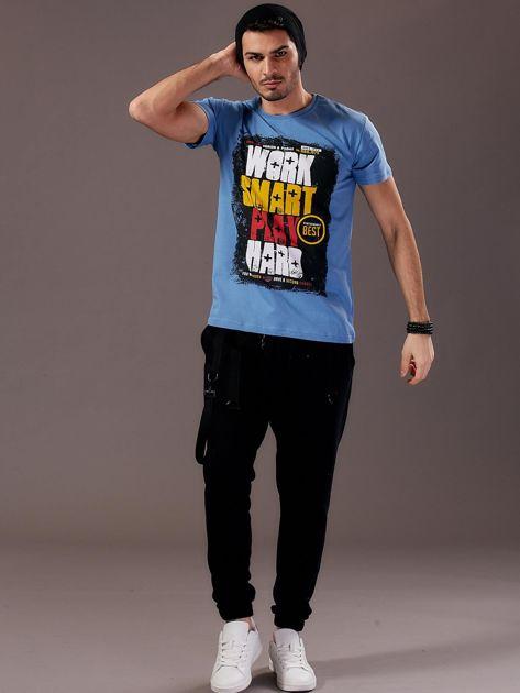 Jasnoniebieski t-shirt męski Work Smart                               zdj.                              6