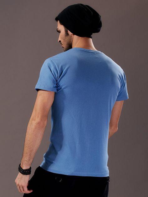 Jasnoniebieski t-shirt męski Work Smart                               zdj.                              2