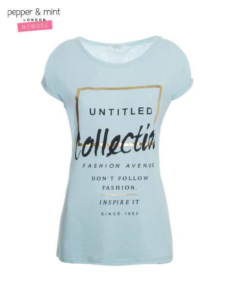 Jasnoniebieski t-shirt z nadrukiem UNTITLED COLLECTION                                  zdj.                                  2