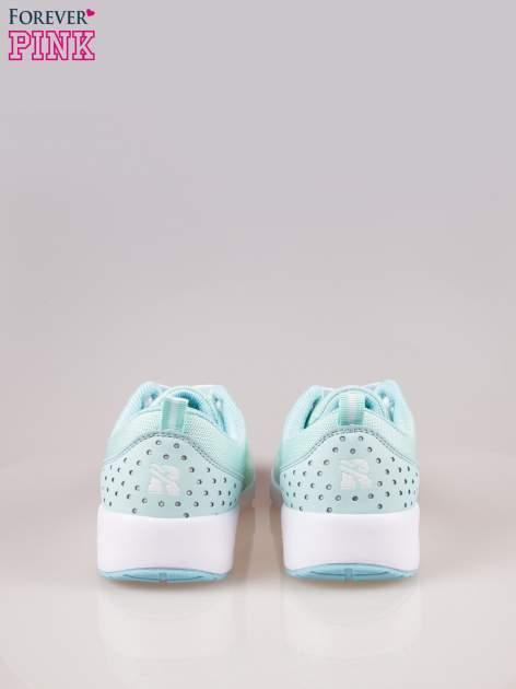 Jasnoniebieskie buty sportowe damskie z siateczką i poduszką powietrzną w podeszwie                                  zdj.                                  3