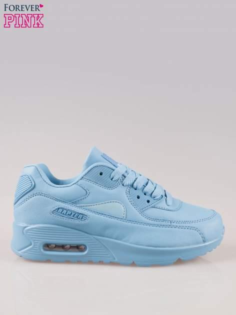 Jasnoniebieskie buty sportowe z poduszką powietrzną w pięcie