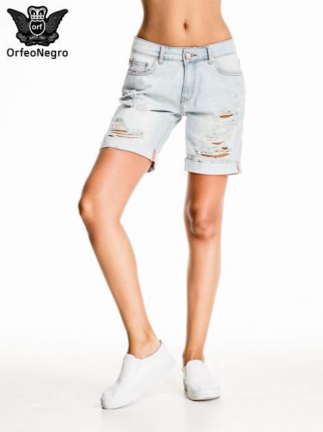 Jasnoniebieskie jeansowe szorty a'la bermudy                                  zdj.                                  1