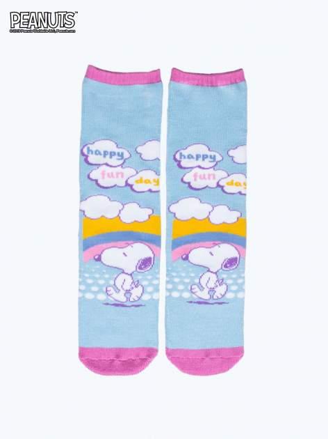 Jasnoniebieskie skarpetki dla dziewczynki SNOOPY