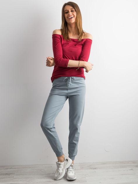 Jasnoniebieskie spodnie dresowe z troczkami                              zdj.                              4