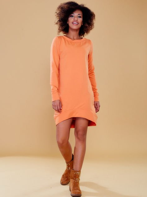 Jasnopomarańczowa dresowa tunika basic                              zdj.                              5