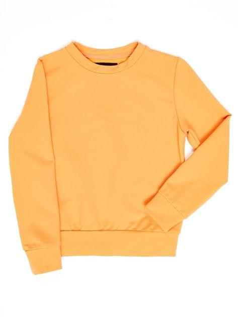 Jasnopomarańczowa bluza młodzieżowa                              zdj.                              1