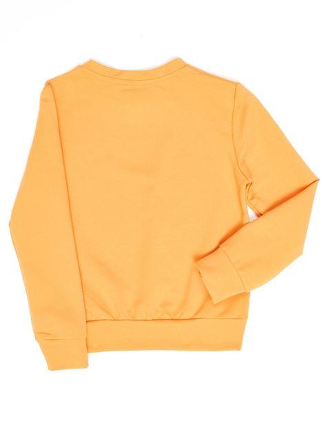 Jasnopomarańczowa bluza młodzieżowa                              zdj.                              2