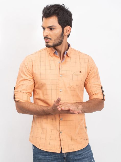 Jasnopomarańczowa koszula męska Hunter